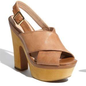 Steve Madden Wooden Platform Sandals